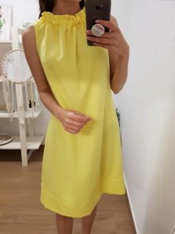 Vestido amarillo cuello...