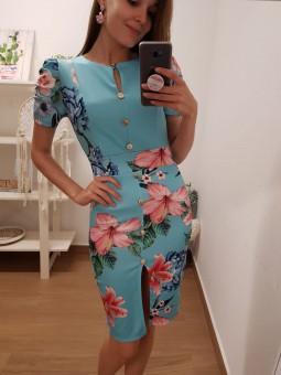 Vestido mademoiselle azul