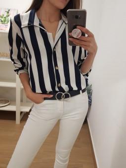 Camisa/vestido rayas navy