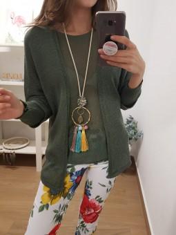 Suéter oversize verde...