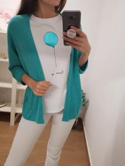 Camiseta globo aguamarina...