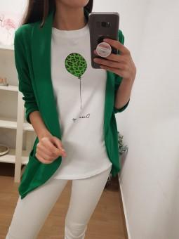 Camiseta globo verde leopard