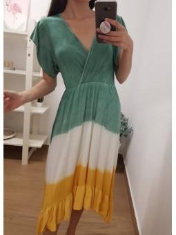 Vestido degradado verde...