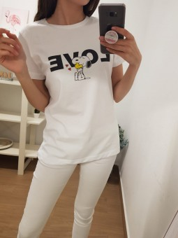 Camiseta snoopy love