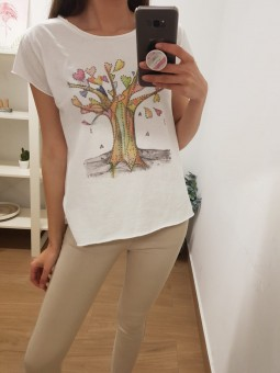Camiseta manga corta árbol...