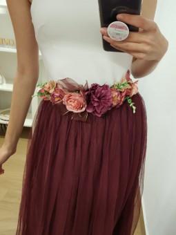 Cinturón/diadema flores...