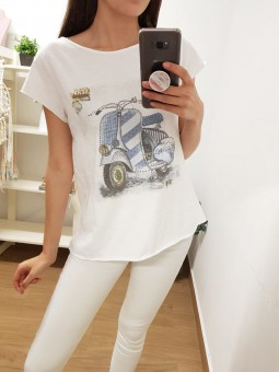 Camiseta manga corta moto...