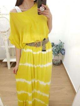 Falda degradada amarilla