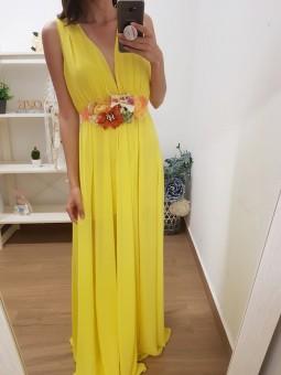Vestido gasa amarillo //...