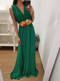 Vestido gasa verde//...