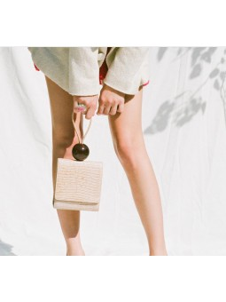 Bolso piel grabado coco bola