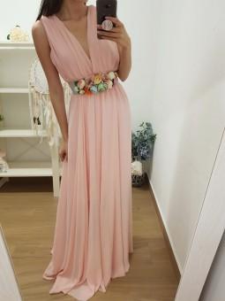 Vestido gasa rosa claro //...