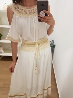 Blusa Lanzarote blanca //...