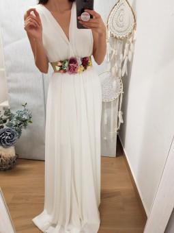 Vestido gasa blanco