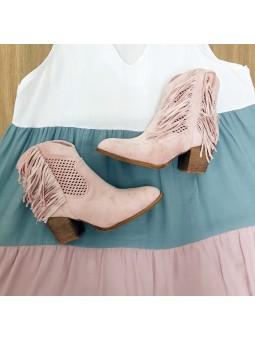 Botines cowboy rosa...