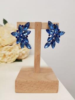 Pendientes brillantes azul...