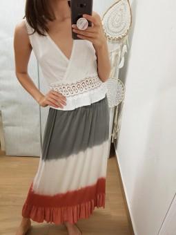 Falda degradada tricolor