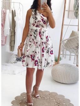 Vestido corto asimétrico...