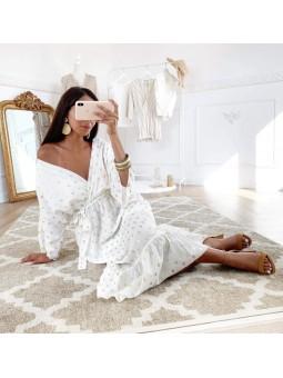 Vestido blanco pinceladas...
