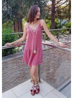 Vestido Estela rosa