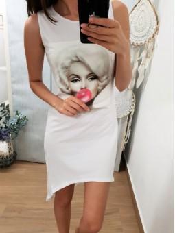 Vestido blanco Monroe