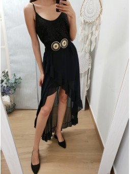Vestido night color negro