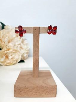 Pendientes mini flores...