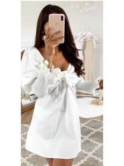 Vestido blanco lazada...