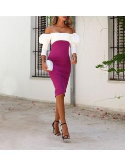 Vestido Rania bicolor...