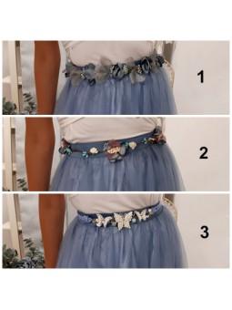 Cinturón tonos azules pequeño