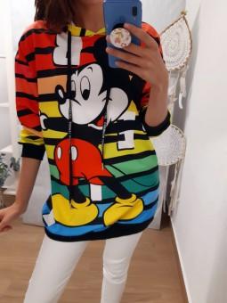 Sudadera Mickey franjas...