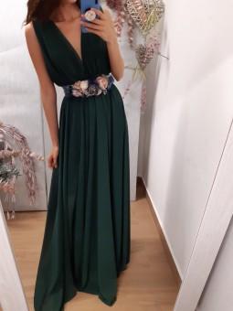Vestido gasa verde...
