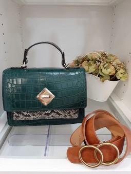 Bolso combinado verde...
