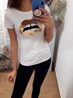 Camiseta lips lentejuelas...