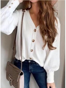 Blusa blanca Palmira botones