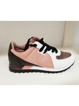 Zapatillas taupe rosa