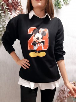 Sudadera negra Mickey 28 (L)