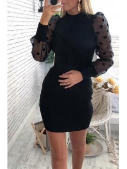 Vestido negro Melisa mangas...