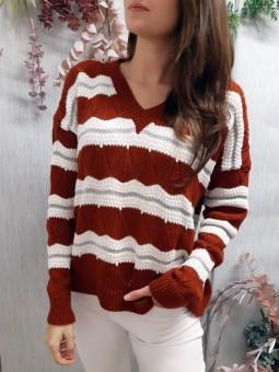 Suéter teja subido estilo...