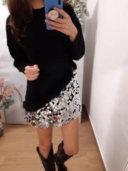Suéter/vestido NEGRO...