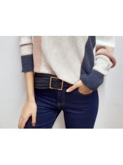 Cinturón azul marino...