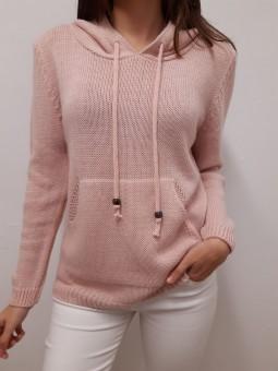 Sudadera rosa de lana con...