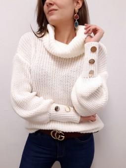 Suéter Nadia blanco roto...