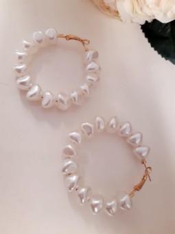 Aros perlas nacaradas grandes