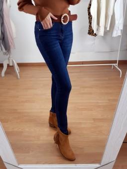 Pantalón vaquero liso azul...