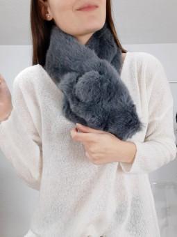 Cuello pelito gris marengo...