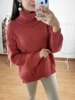 Suéter Marina color coral...