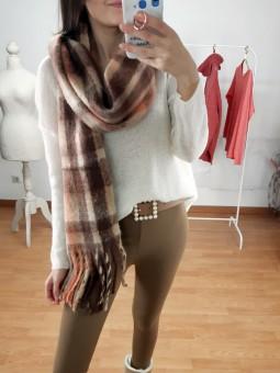 Suéter Rosana blanco roto...