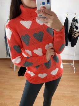 Suéter flúor naranja...