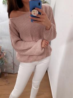 Suéter Esther rosa palo (J)